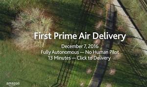 Amazon has first commercial drone delivery on December 7 ...