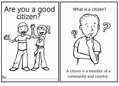 Citizen Coloring Worksheets Kindergarten Printable Social Studies
