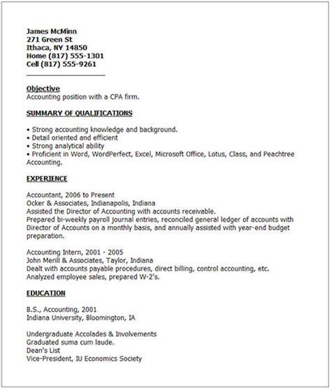 Bad Resume Example