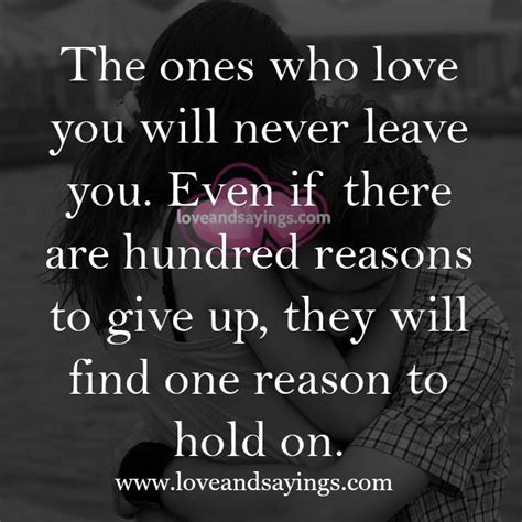 Never Leave You Love Quotes