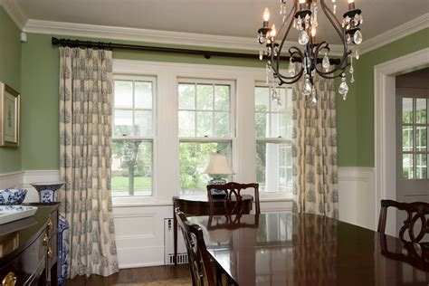 Dining Room Draperies by Window Treatments Coco Curtain Studio Interior Design