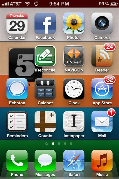 places to fix iphone screens bug ios 5 newsstand icons out of place on iphone and