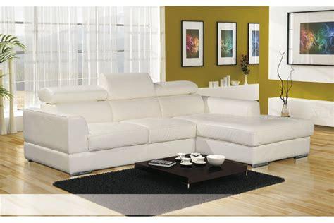 canapé d angle cuir but canapé d 39 angle cuir pu avec têtières lena blanc noir
