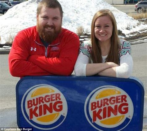 burger king pay for joel burger s wedding to king in illinois daily mail