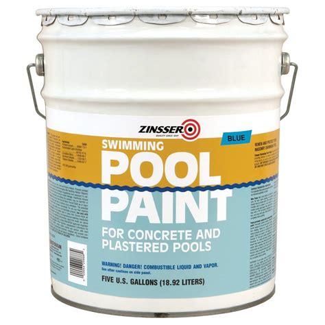blue swimming pool paint  gal flat oil based waterproof