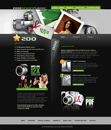 Digital Camera Web Template  2415  Electronics & Gadgets