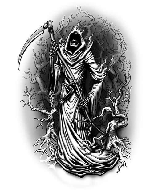 Grim Reaper | tattoo flash / inspiration | Pinterest | Grim reaper tattoo, Reaper tattoo, Grim