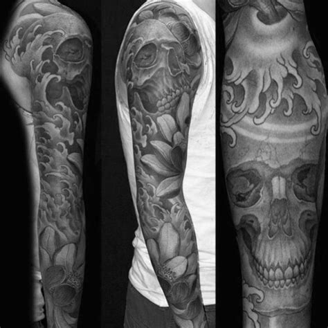 Japanese Skull Tattoo Designs For Men Cool Cranium