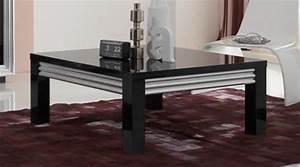 Table Basse Noir Laqué : table basse silver laque noire ~ Teatrodelosmanantiales.com Idées de Décoration