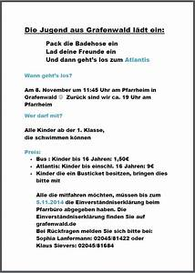 Einverständniserklärung Schwimmen : grafenwald ~ Themetempest.com Abrechnung