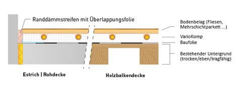 trockenbau fußbodenheizung aufbau variotherm faq nachtr 228 glicher einbau einer fu 223 bodenheizung variotherm