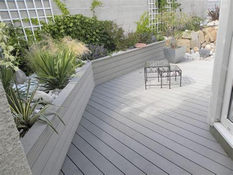 beton pour cour exterieure beton pour cour exterieure 8 terrasse bois composite et galets jardin evtod