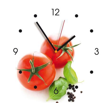 horloge murale cuisine horloge murale déco contento tomates