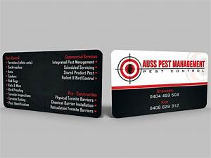 Business card design for auss pest management by hardcore for Pest control business card