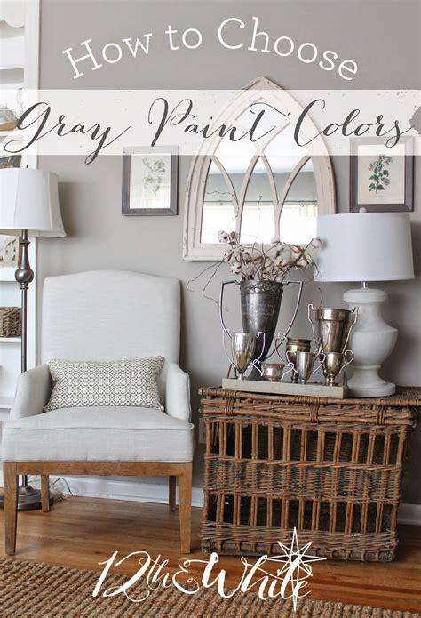 white   choose gray paint colors