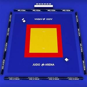 3d Model Japan Judo Tatami Sport Arena Low Poly