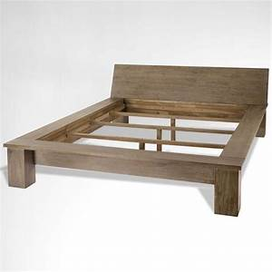 Cannisse Viasso Bed Simple and strong wooden bed, solid ...