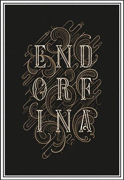 Typography Inspiration Behance Lettering Gillde Iv Graphic