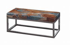 phillips collection glitz coffee table made of resin and With wood and resin coffee table