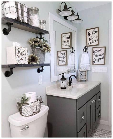 57 Farmhouse Bathroom Organization Ideas 38 In 2019