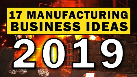 manufacturing business ideas   buzzpost