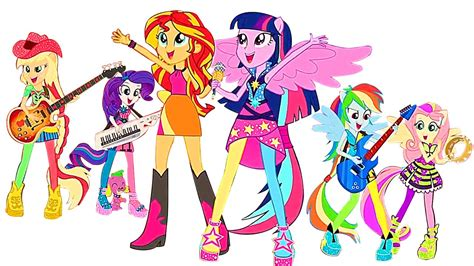 pony equestria girls mlp coloring pages abc
