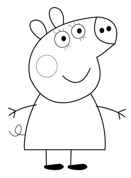 disegni da colorare e stare peppa pig disegno di peppa pig cose per crescere
