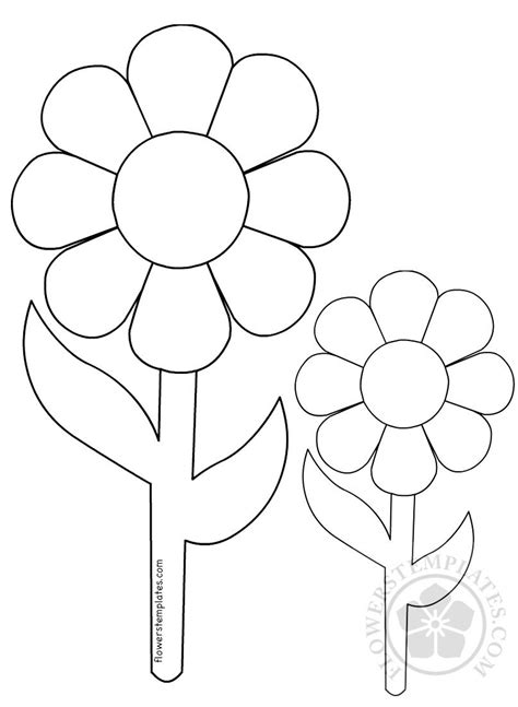 big  small flowers coloring page flowers templates