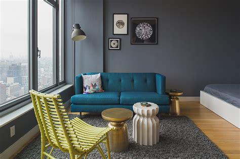 dashing nyc studio apartment   glamorous makeovers