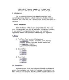 outline of a persuasive essay