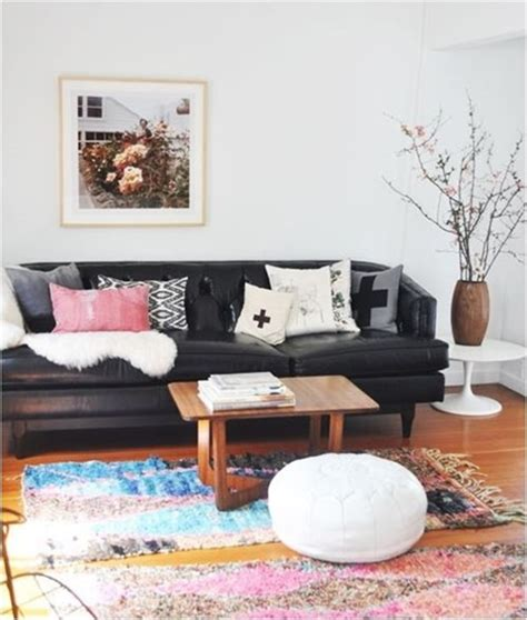 how to decorate around a decorating around a leather sofa centsational girl