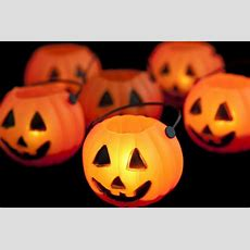 Image Of Glowing Halloween Pumpkin Lantern