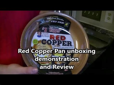 red copper gotham steel pan unboxing demonstration  review youtube