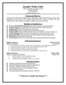 dental front desk resume templates billing supervisor resume sle http resumesdesign billing supervisor
