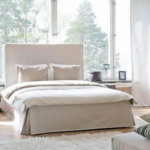 Tete De Lit Bois Ikea : quel cache sommier pour relooker mon lit ikea marie claire ~ Preciouscoupons.com Idées de Décoration