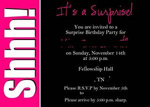 Surprise 50th birthday invitations templates invites for Template for 50th birthday invitations free printable