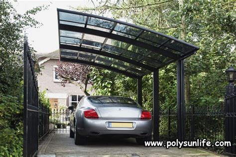sun life single aluminum carport  polycarbonate roof outdoor car shelter garage diy gazebo