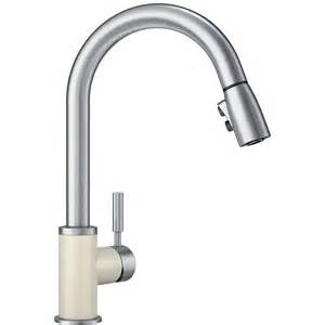 blanco kitchen faucet reviews shop blanco sonoma biscuit stainless 1 handle deck mount pull kitchen faucet at lowes com