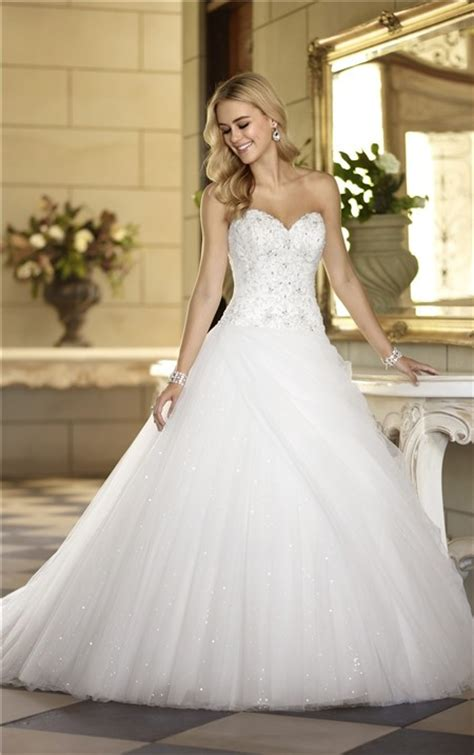 Ball Gown Sweetheart Satin Embroidery Tulle Sequin Corset