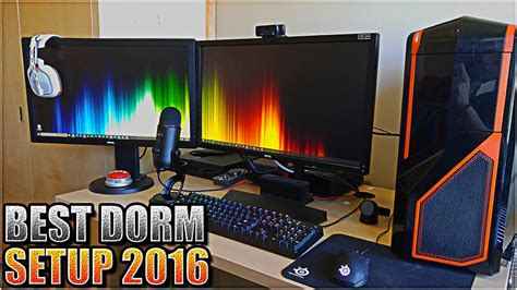 insane college dorm room gaming pc  console gaming