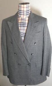 austin reed mens gray double breasted wool blazer sport