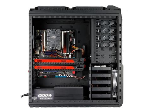 pc side panel fan cooler master haf x full tower computer case with window