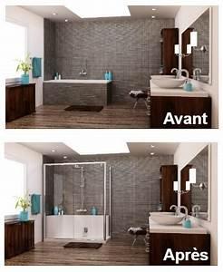 Aide Financiere Pour Renovation Salle De Bain : avant apr s 3 r novations de salle de bain bienchezmoi ~ Melissatoandfro.com Idées de Décoration