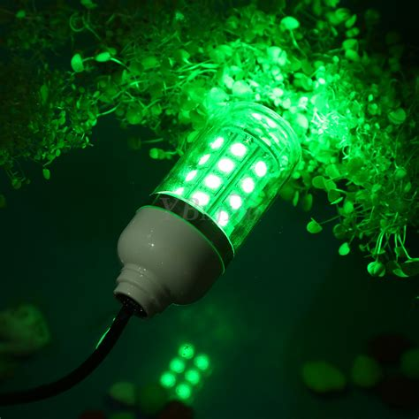 Led Fishing Lights by 12v Led Green Waterproof Submersible Fishing Light
