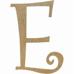 14quot decorative wooden curly letter e ab2149 With decorative letter e