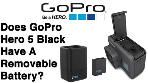 gopro hero  black   removable battery  youtube