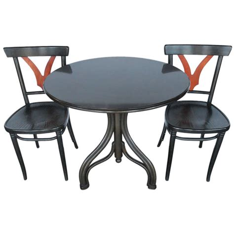 32584 furniture los angeles graceful graceful set of thonet table and chairs at 1stdibs