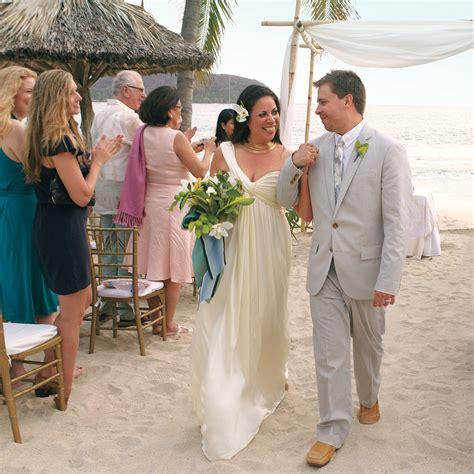 navy  white destination wedding   beach  mexico martha stewart weddings