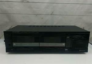 Vintage Kenwood Double Cassette Tape Deck Kx