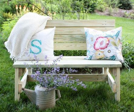 diy  bench sweet pea